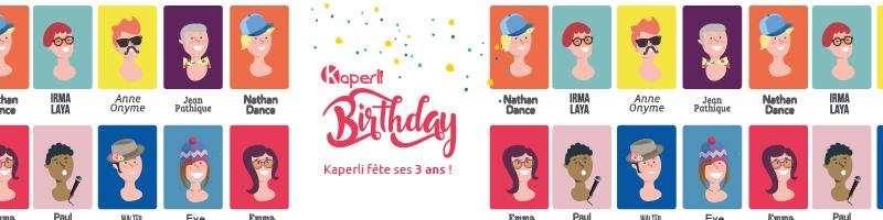 Kaperli fête ses 3 ans !