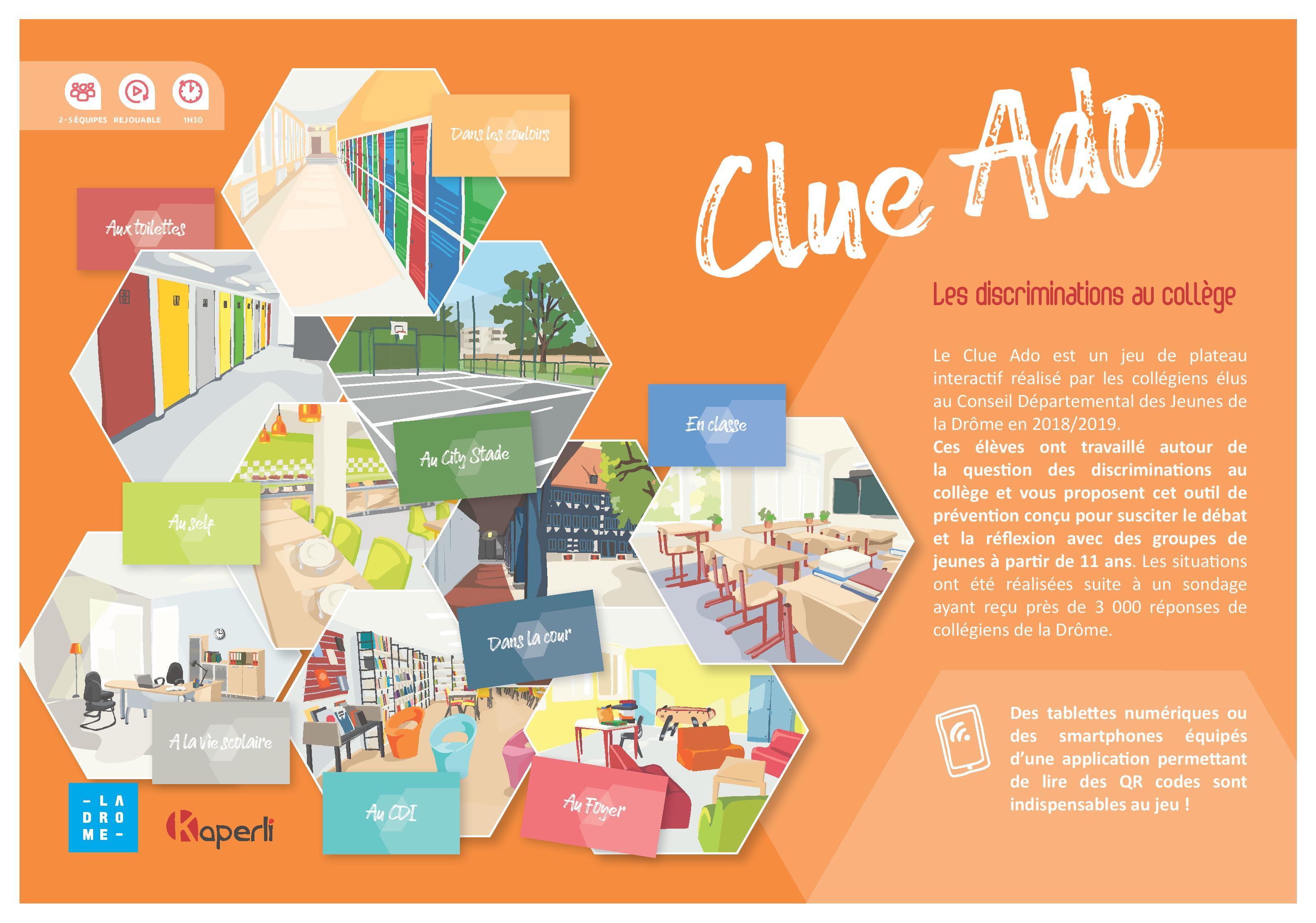 Clue Ado – Un jeu sur les discriminations au collège