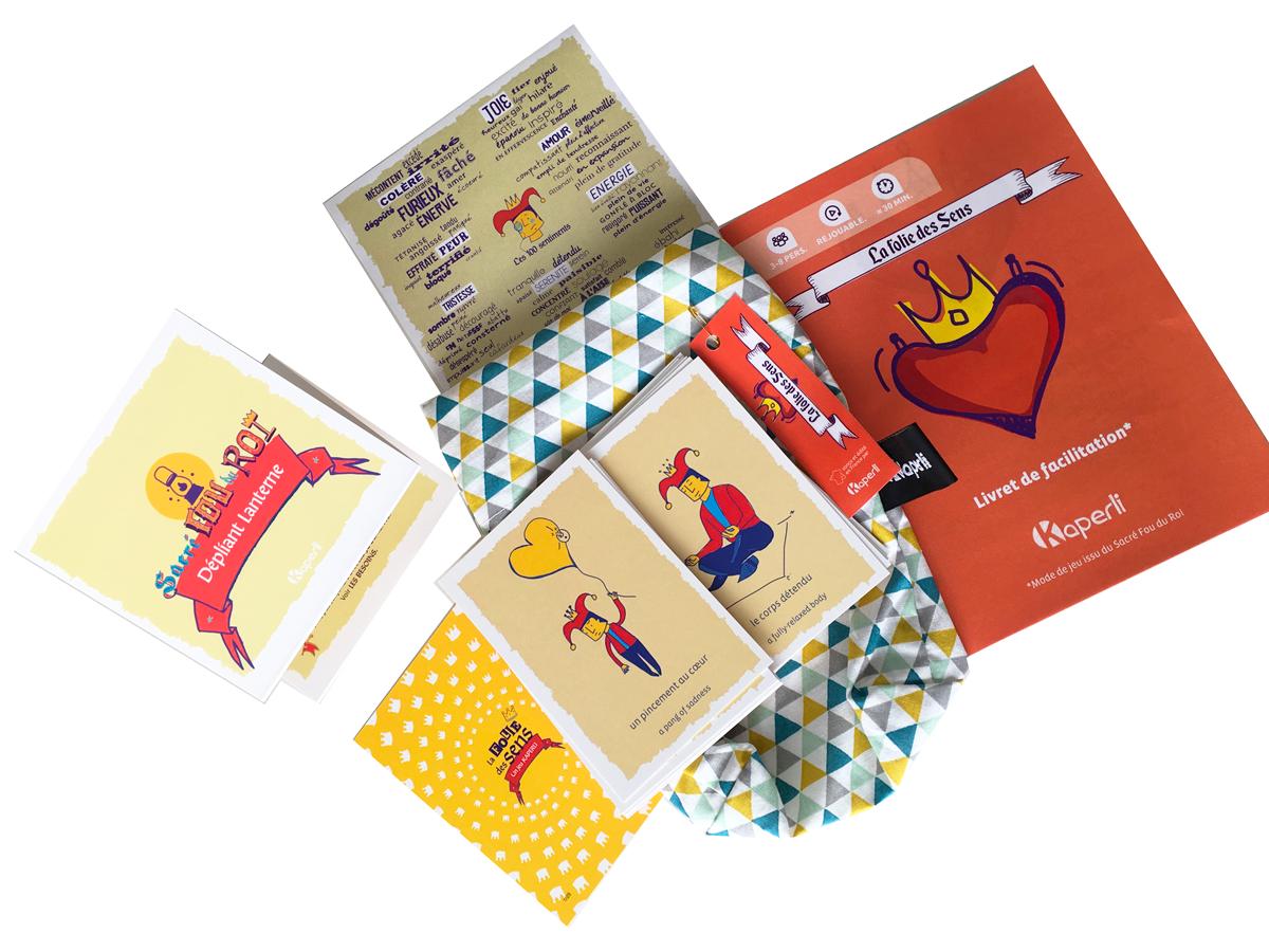 Kit «La folie des sens» – jeu de cartes et ressources pour travailler sur les sensations corporelles